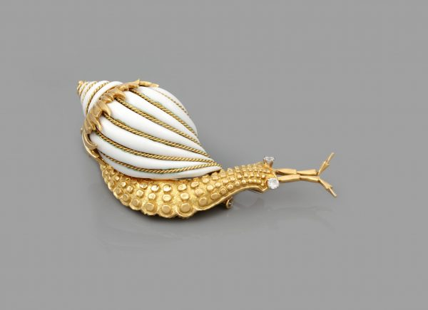 DAVID WEBB SNAIL BROOCH